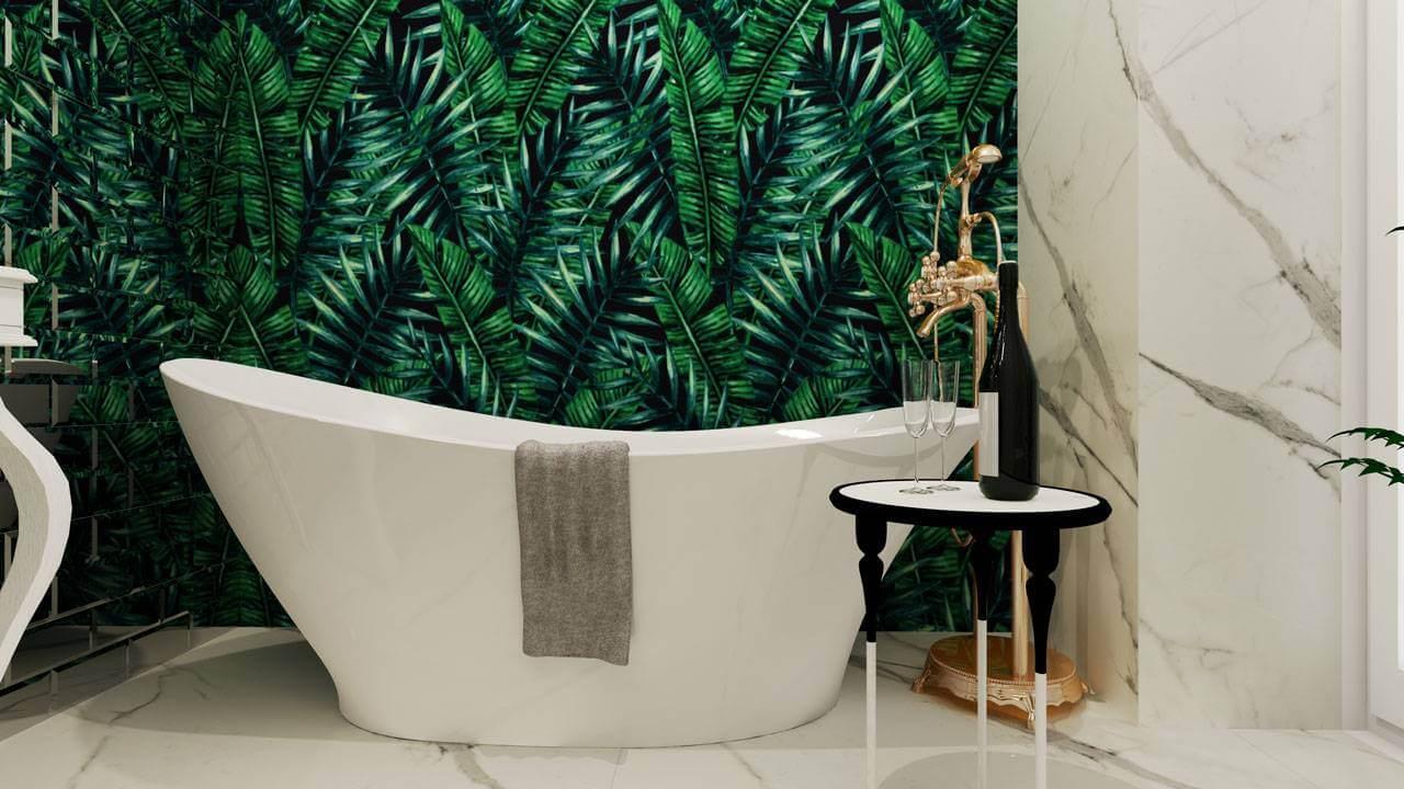 Łazienka zielona
